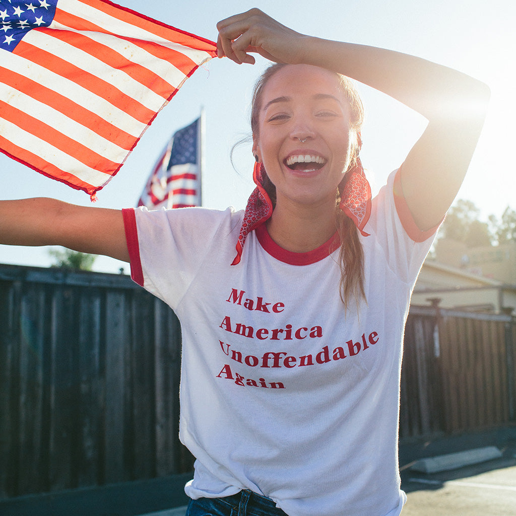 Make America Unoffendable Tee - Red