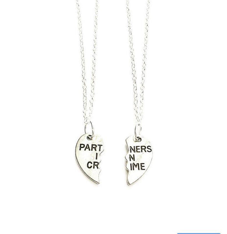 "Partners in Crime Double Necklaces (18"" chains) - highmaintenancejewellery"
