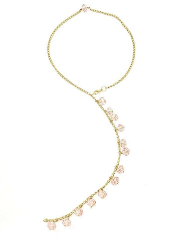Back Style Drop Faceted Bead Necklace (back chain)