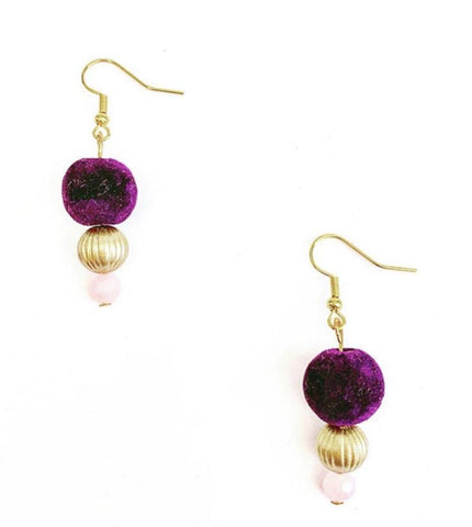 Plum Velvet Drop Earrings - highmaintenancejewellery