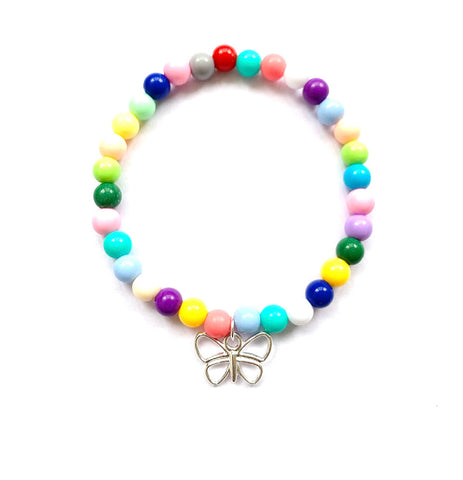 'She's like a Butterfly' - Colourful Beaded Bracelet - highmaintenancejewellery