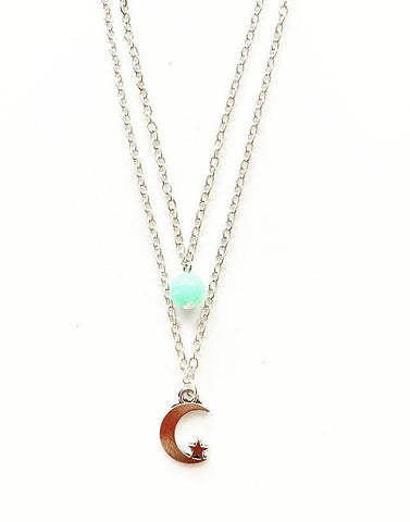 Two Layer Star & Moon Necklace