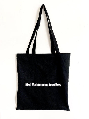 Black Canvas Shopper Bag