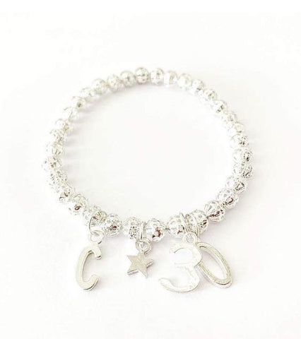 Silver Filigree Charm Bracelet - highmaintenancejewellery