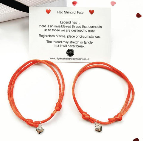 The Red String of Fate Duo Bracelets