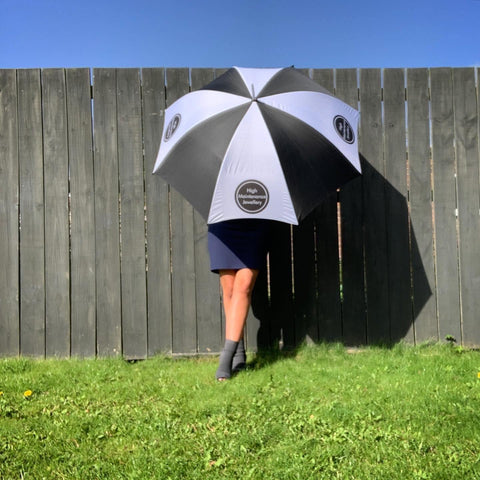 HMJ Branded Large Umbrella - highmaintenancejewellery