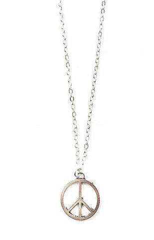 'Give Peace A Chance' Charm Necklace