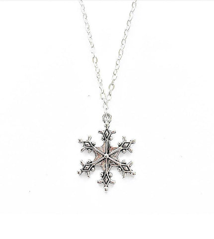 Snowflake Charm Necklace - highmaintenancejewellery