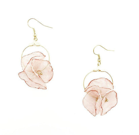Blossom Inspired Hoop Gold Earrings