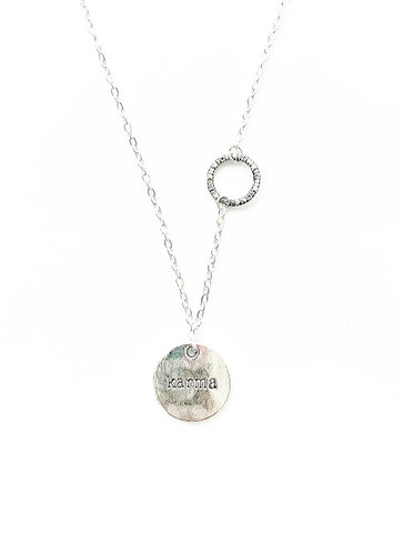 The KARMA Collection - Hammered Style Circle (attached) - highmaintenancejewellery