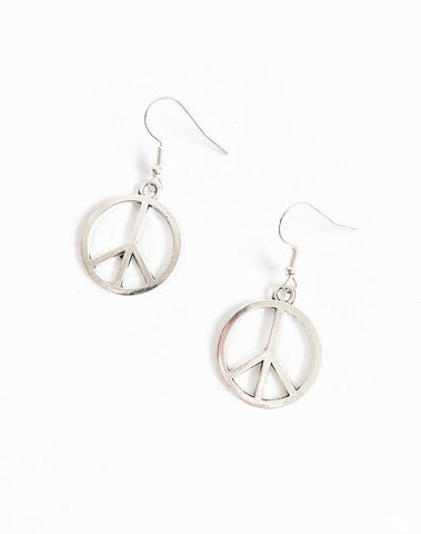 Peace Charm Earrings - highmaintenancejewellery