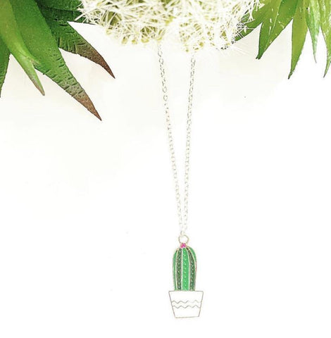 Cute Cacti Charm Necklace