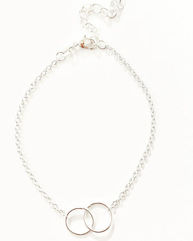 Entwined Circles Chain Bracelet - highmaintenancejewellery
