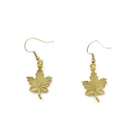 Gold Leaf Charm Earrings - highmaintenancejewellery