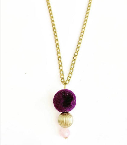 Plum Velvet Necklace