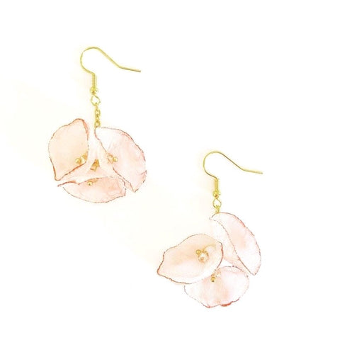 Blossom Inspired Gold Chain Earrings - highmaintenancejewellery