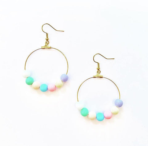 Candy Colour Hoop Earrings