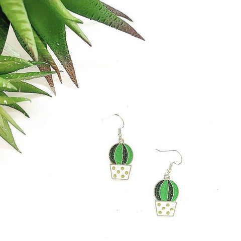 Cute Cacti Charm Earrings - highmaintenancejewellery