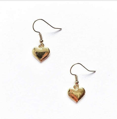 Dainty Gold Heart Earrings