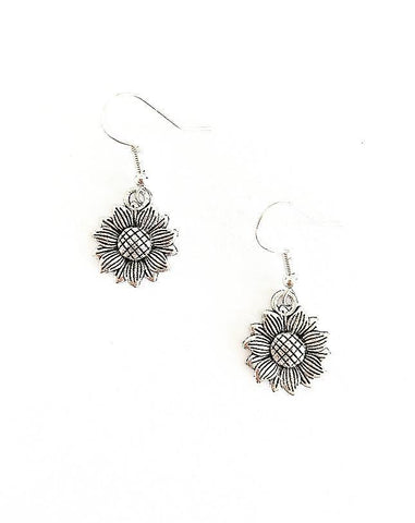Sunflower Sterling Silver Earrings
