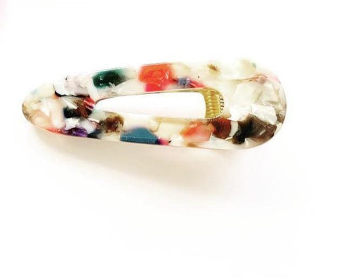 Confetti Multi-Colour Large Triangular Hair Accessory - highmaintenancejewellery