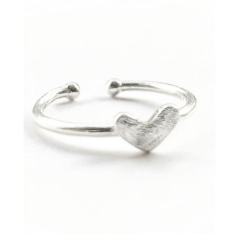 Sterling Silver 'Self Love' Heart Ring - highmaintenancejewellery