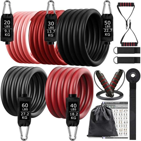 Home Workout Resistance Bands up to 200 pounds by VibraMassage