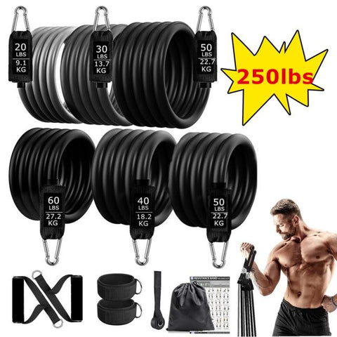Home Workout Resistance Bands Up To 250 Pounds by VibraMassage
