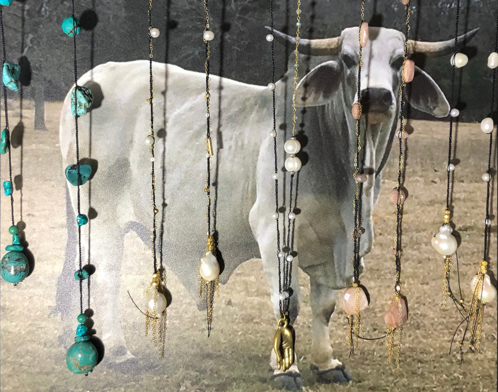 Handmade Gemstone Lariat Necklaces