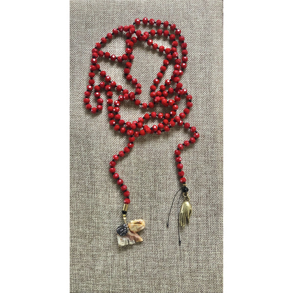 Handknotted Lariat Necklace 65""