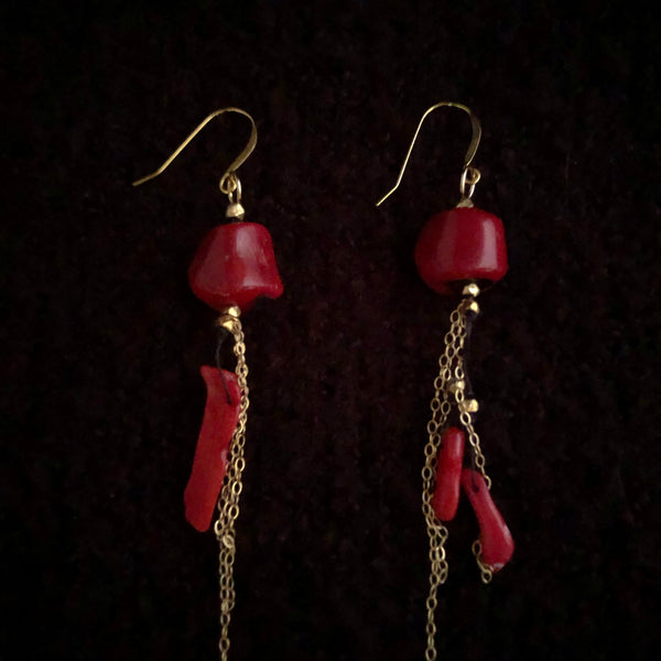 Earrings | Mismached Coral Earrings