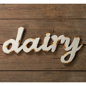 "Metal ""Dairy"" Sign"