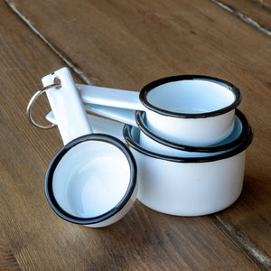 Farmhouse Enamelware Measuring Cups, Set of 4