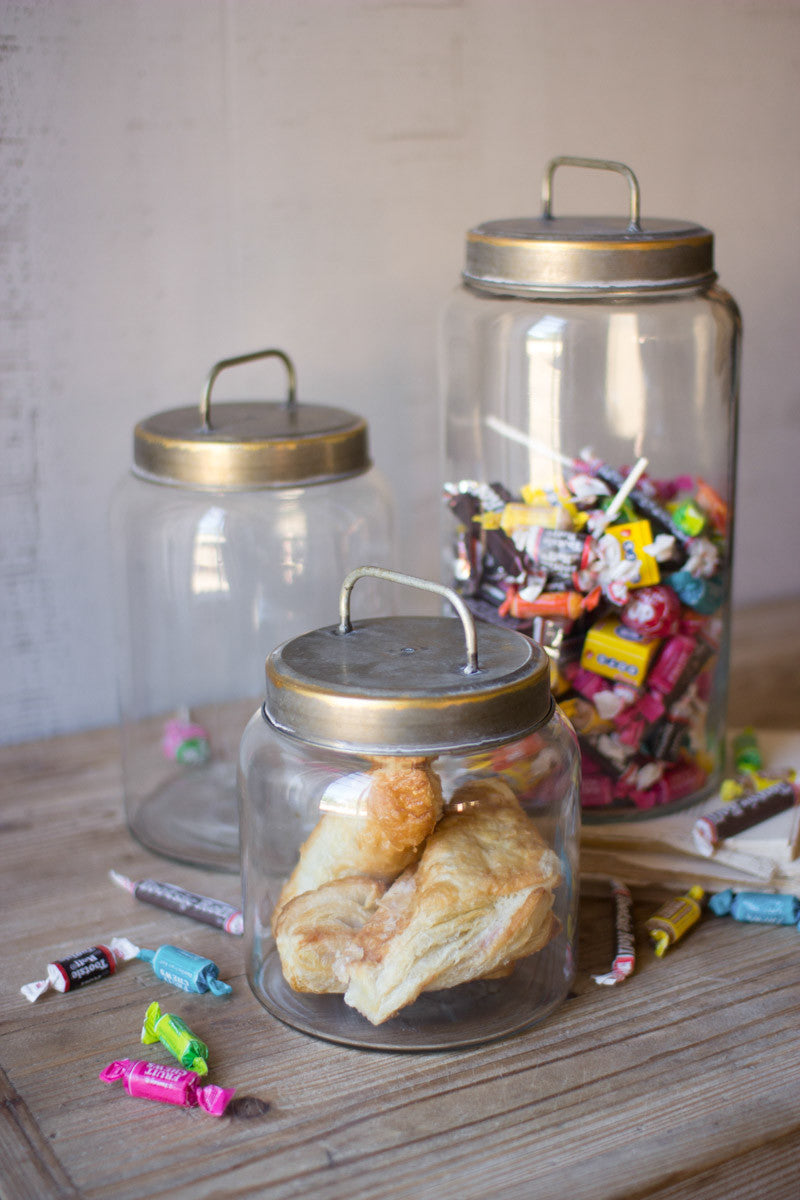 Glass Jars with Tin Lids