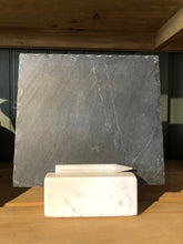Load image into Gallery viewer, Slate Slab in Marble Base with Soapstone Stick
