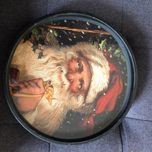 Load image into Gallery viewer, Round Vintage Santa Print