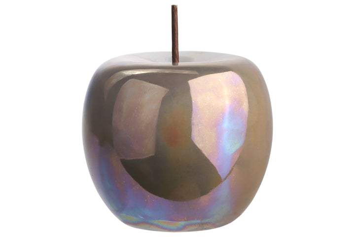 Ceramic Apple in Iridescent Sage