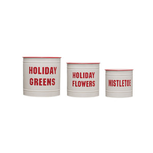 Metal Holiday Buckets