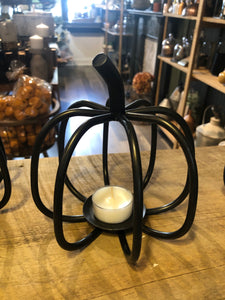 Cast Iron Pumpkin Tea Light Holder