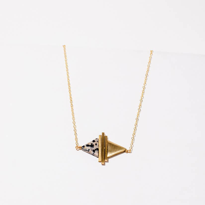 Triangle Stacked Deco Necklace
