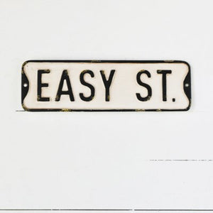 """Easy St."" Street Sign Replica"