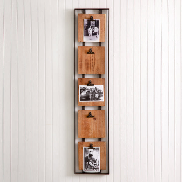 Hanging Photo Holder with 5 Clips