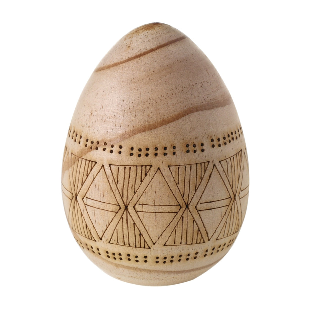 Carved Wooden Egg