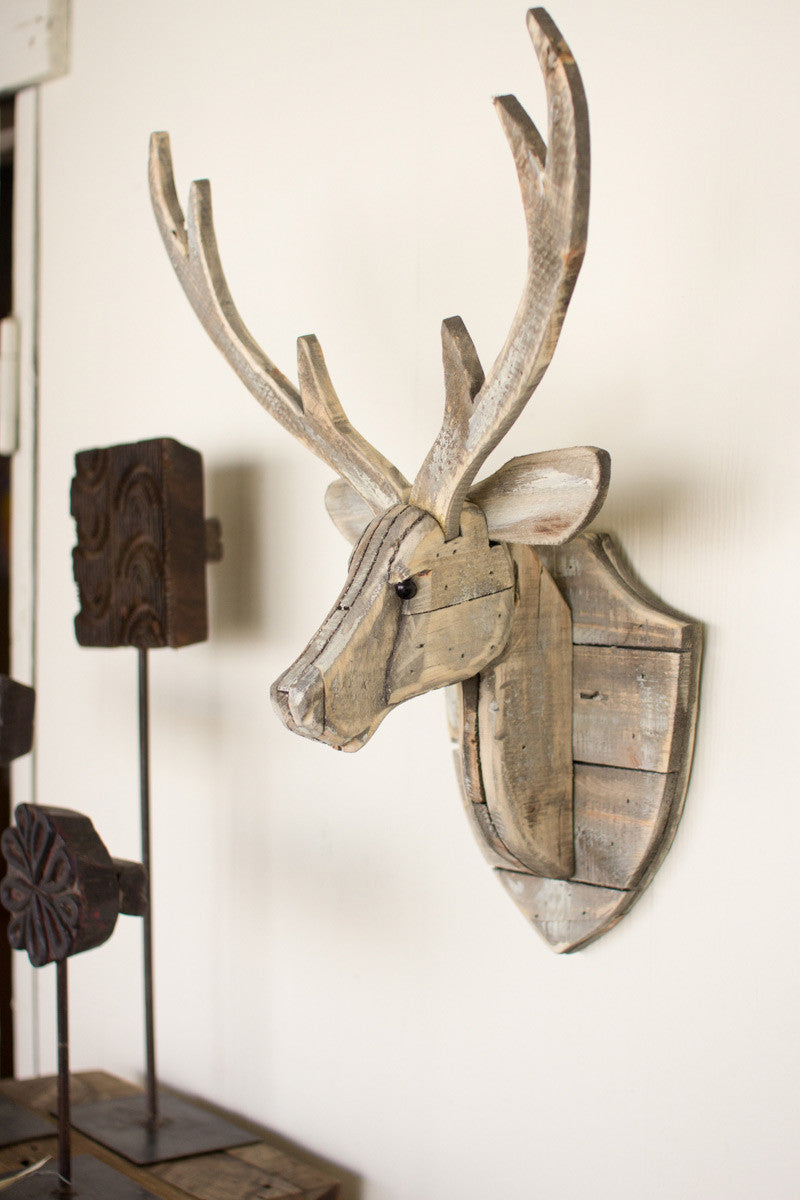 Recycled Wood Deer Head
