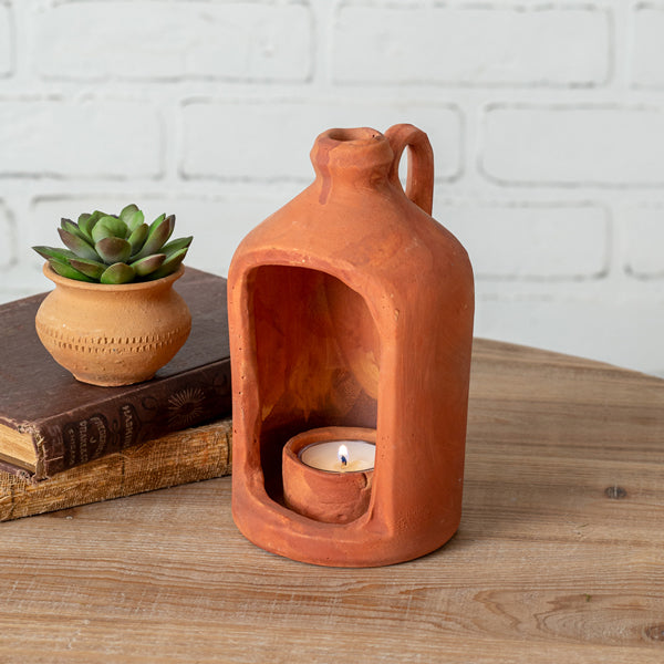 Terra Cotta Tea Light Holder