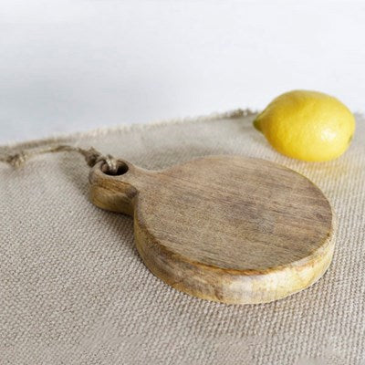 Small Wood Board with Jute Tie