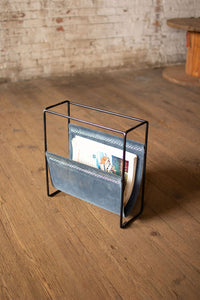 Velvet and Iron Magazine Rack