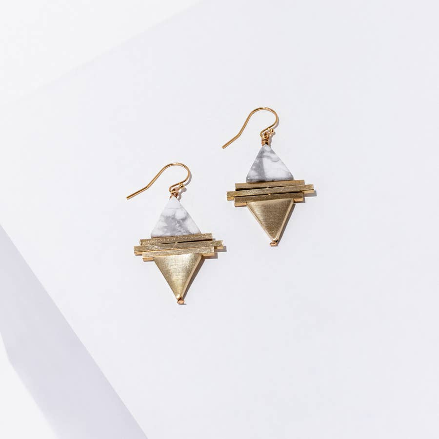Triangle Stacked Earring
