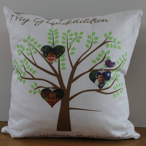 Grandchildren photo cushion