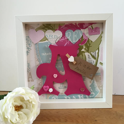 Floral Initial Frame